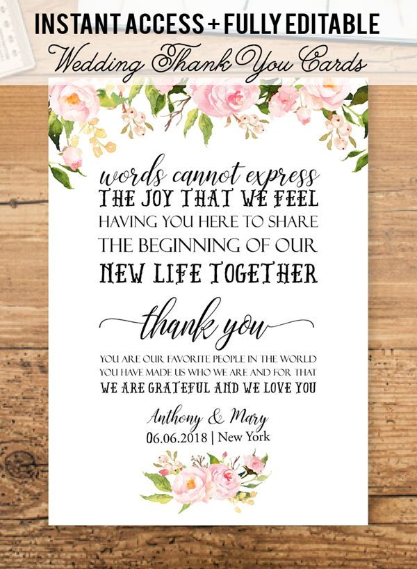 Kraft Wedding Itinerary Template Floral Printable Wedding