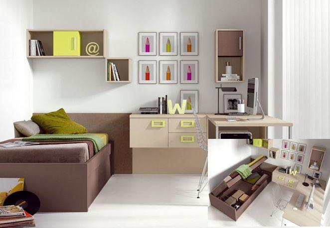 M s de 1000 im genes sobre dormitorios petit en pinterest - Habitaciones juveniles espacios pequenos ...