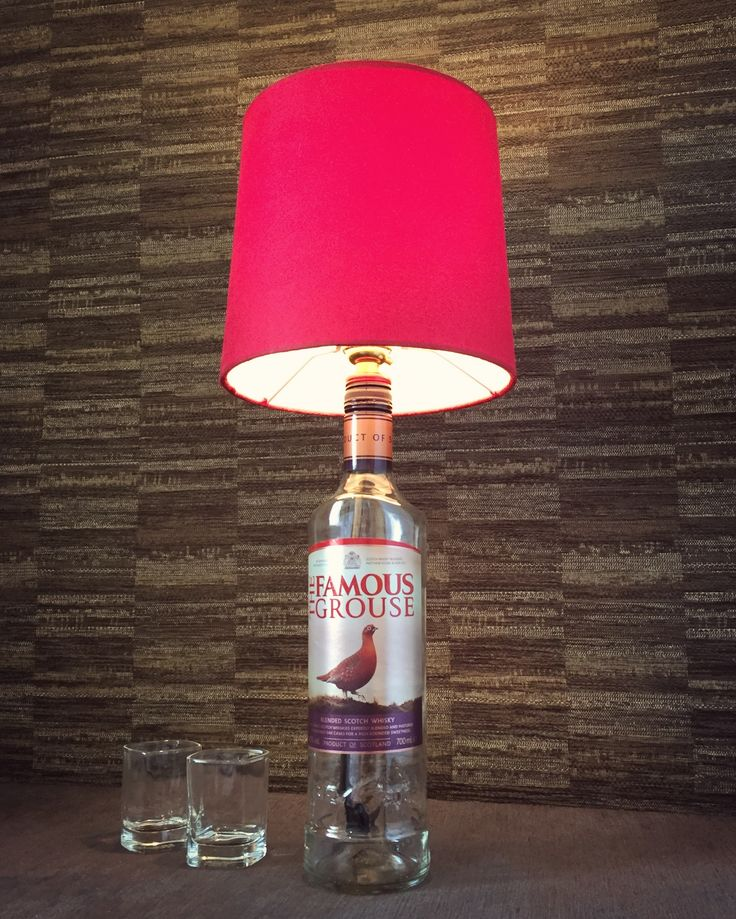 https://www.etsy.com/uk/listing/522405465/the-famous-grouse-whisky-bottle-lamp?ref=shop_home_active_5 #famousgrouse #bottlelamp #red #whisky #boho #decor #steampunk #style #design #lighting #lamp