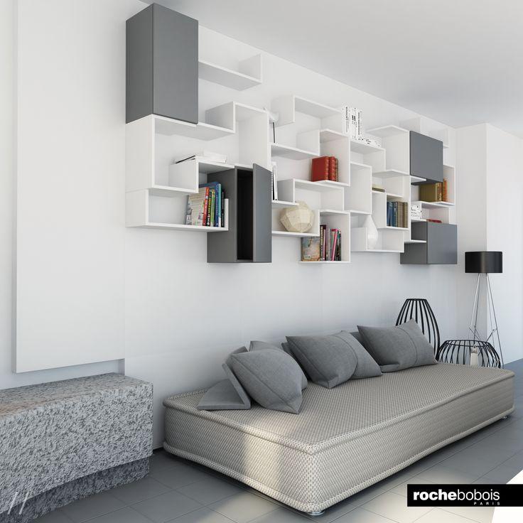 Living room in toni neutri canape sofa roche bobois for Canape poltrone e sofa