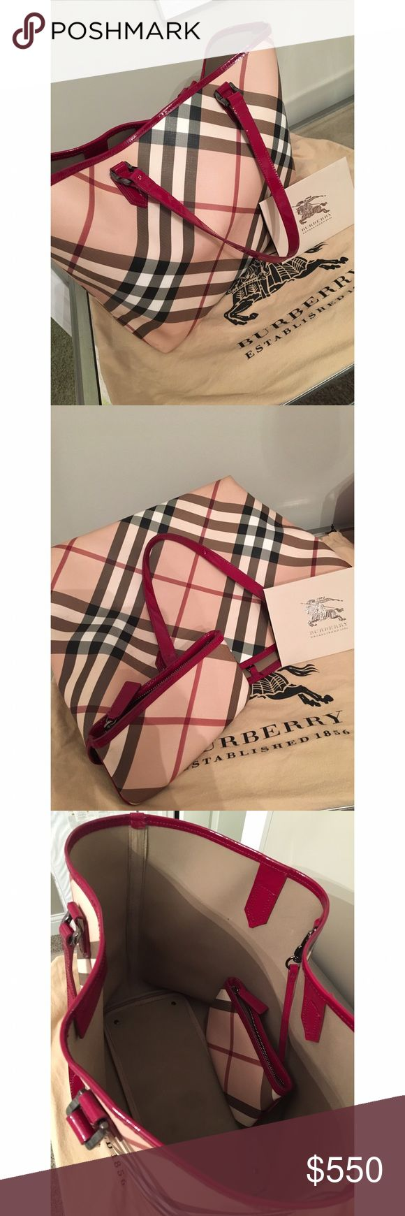 Burberry Tote 💯Authentic💯 Burberry Tote comes with attached pouch, dustbag and receipt. Minor wear and tear (pictures upon request - on handles and bottom edges) Burberry Bags Totes