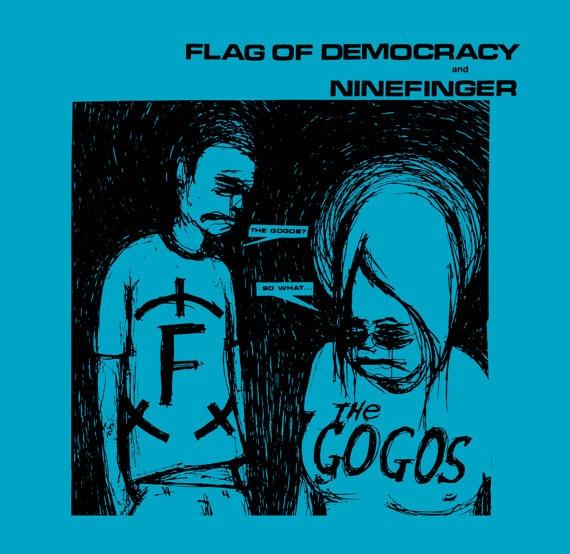 Flag of Democracy and Ninefinger 7inch - Vintage NYC Grindcore: Ninefing 7Inch, Eine Kleine, Vintage Nyc, Punk Musik, Nyc Grindcor, Kleine Punk, Electric Factories