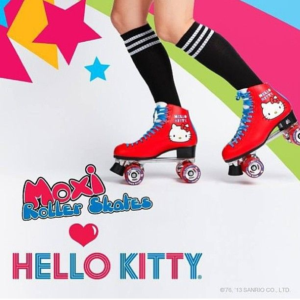 "80 Likes, 12 Comments - Moxi Roller Skate Shop (@moxiskateshop) on Instagram: ""Moxi Roller Skates and Hello Kitty Roller Skates.... Available for sale in sizes 4-10 on…"""