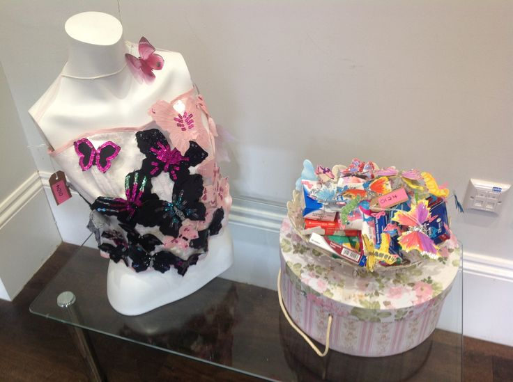 'From Fear to Beauty - A Butterflies Journey'  AND 'New Beginnings Part 2'.  These pieces of artwork have been created by two of the Charity's members, representing the beauty of the female body shape and new beginnings, a second chance to live life to the full.
