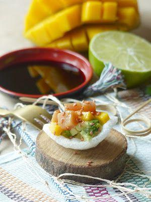 Toast mangue, avocat et tartare de thon