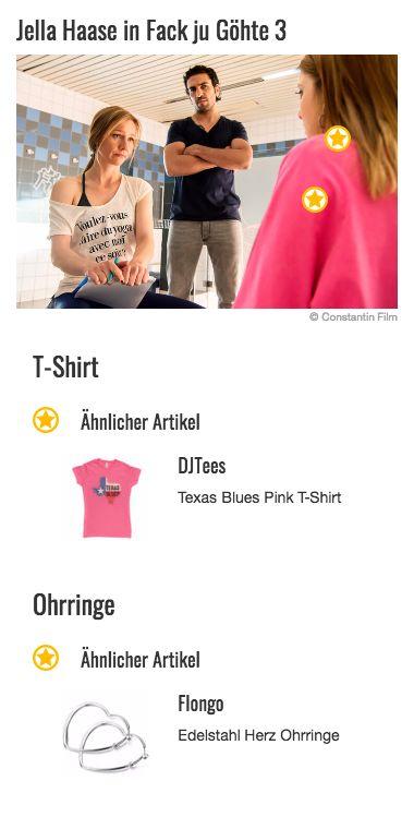 Pink ist definitiv eine von Chantals (Jella Haase) Lieblingsfarben. Zumindest lässt sich dieser Rückschluss aus ihrer Kleiderwahl ziehen. Ihre Outfits weisen nämlich nicht selten ein Kleidungsstück in besagtem Ton auf und auch ihre Accessoires, etwa die momentan super angesagten Bauchtaschen, wählt die Schülerin gerne in dieser Farbe. Auch auf diesem Bild wird Chantals Look von einem Shirt in grellen Pink dominiert.