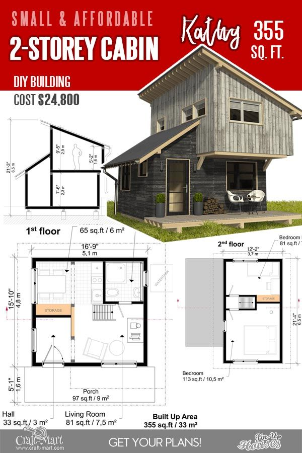 13 Best Small Cabin Plans With Cost To Build Craft Mart Small Cabin Plans Tiny Cabin Plans Cabin Plans