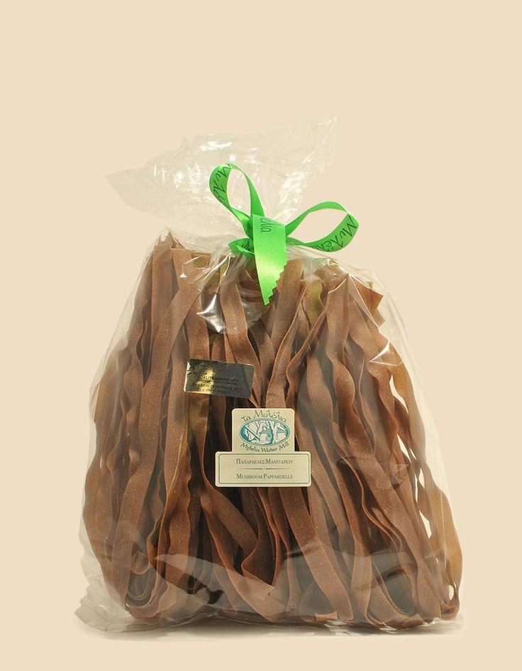 Mushroom Pappardelle #Mylelia #MushroomPasta #Pappardelle #HandmadePasta #FlavouredPasta #GreekProducts