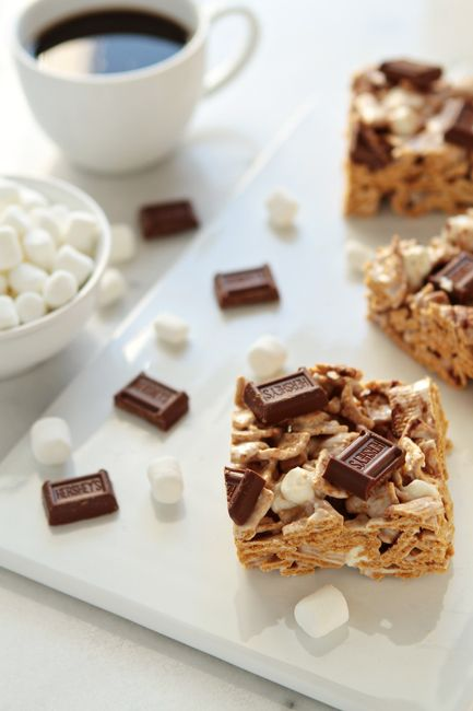 We used to make these all the time when I was a teen. Golden Grahams S'mores | My Baking Addiction