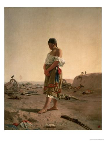 The Paraguayan in Her Desolate Mother Land, 1880 Giclee Print by Juan Manuel Blanes at Art.com