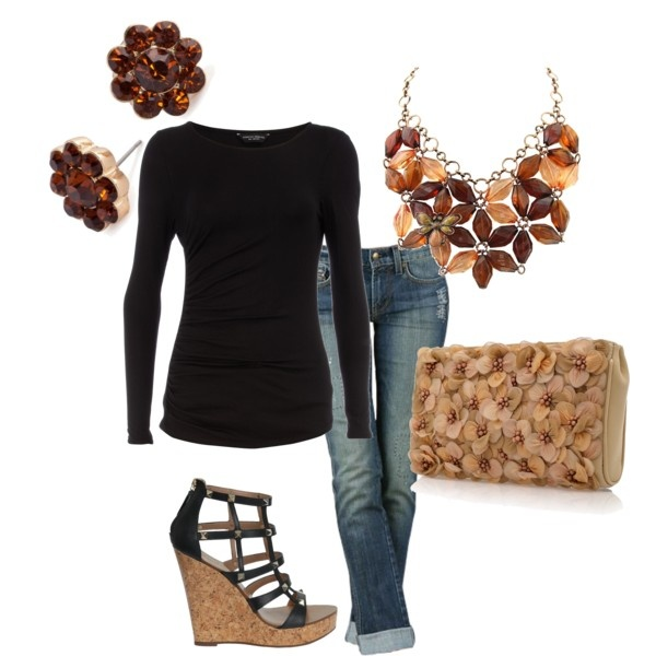 Outfit: Gardens Lanterns, Shoes, Movie Date, Clutches, Ali Black, Fall Outfits, High Fashion, Imaginary Closet, Bibs Necklaces