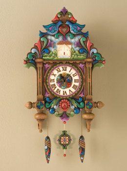 "Masterpiece Clock ""Old Time Tradition"" - Jim Shore Clock 4012470   ENESCO"
