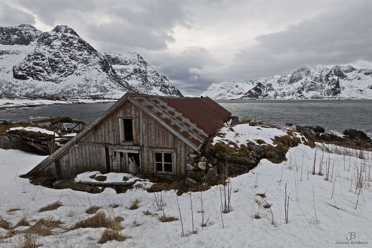 Abandoned House at Vareid - The lines of this abandoned house lead the eye into the fjord beyond. It's quite a view.