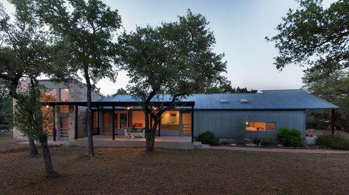 Walkabout Exterior Modern Exterior Austin Nick Deaver Architect Someday Lake House