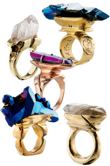 Chunky quartz rings by Andy Lifschutz Jewelry // Handmade Jewelry and Fashion
