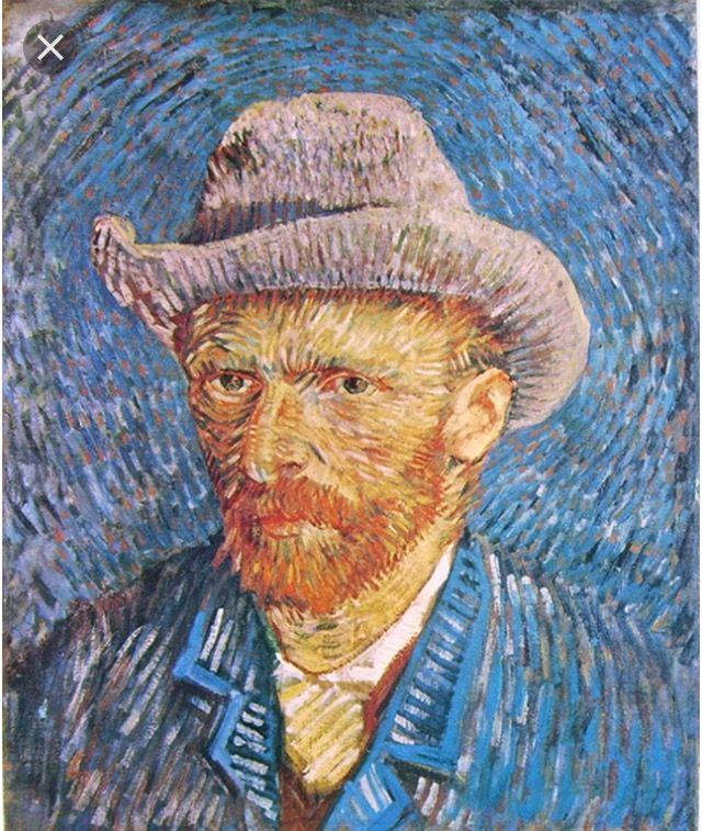 Autoritratto con cappello di feltro grigio (1887)
