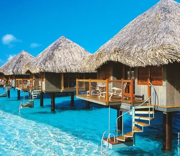 The Fiji islands, I love the idea of total privacy ...just need to move these further apart..