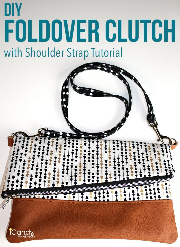 DIY Foldover Clutch Strap Tutorial iCandy