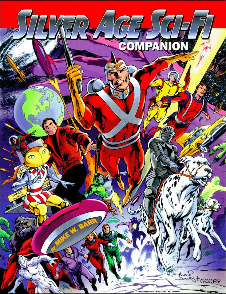 This is the cover for Silver Age Sci-Fi Companion, drawn by Alan Davis.