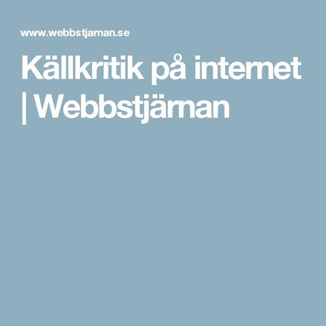Källkritik på internet | Webbstjärnan