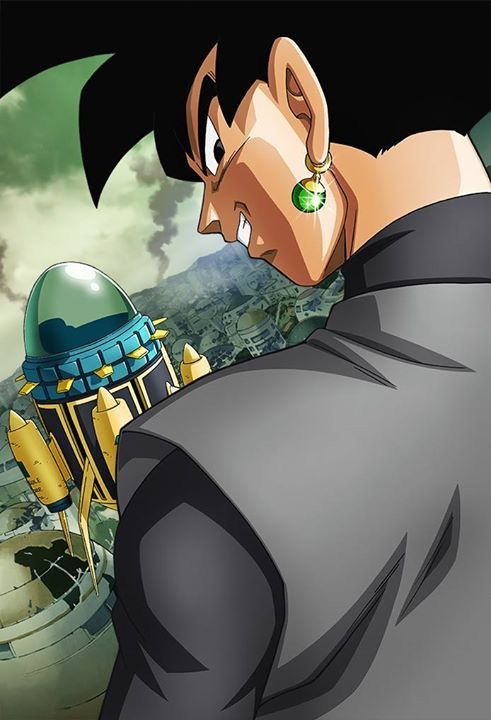 Dark Goku art, taken from the debut Future Trunks arc poster.