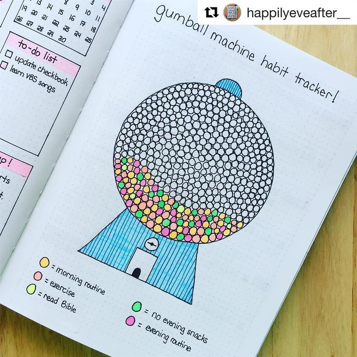 #Repost @happilyeveafter__ (@get_repost) ・・・ #planwithmechallenge day 21: Planning helps me become a better, healthier person. I know that sounds quite cheesy, but keeping track of my habits, productivity, and daily schedule ensures that I stay on top of everything, which makes me happier! My gum ball machine habit tracker is slowly but surely filling up - I'll be curious to see how long it takes to reach the top! #bulletjournal #bulletjournaltracker
