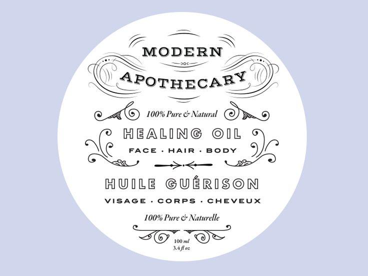 Healing Oil Label