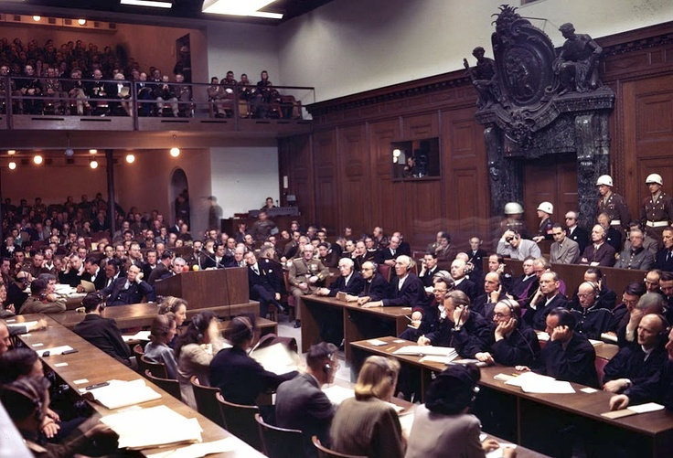 Nuremberg trial in color.