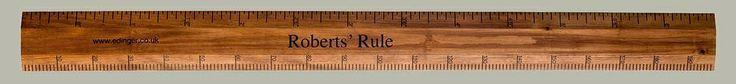 "The Ultimate Redwood Pine 6'6"" Wooden  Ruler Height Chart. Looks just like your old school ruler! Have it personalised with the family name, child's name or wedding date. The perfect present!"