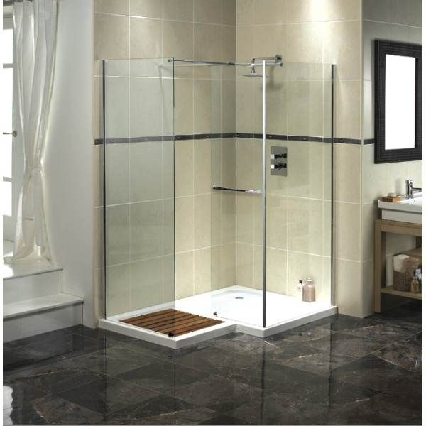Aqualux Aquaspace Square Walk In Shower Enclosure Tray