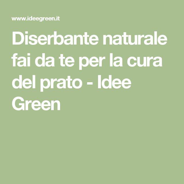Diserbante naturale fai da te per la cura del prato - Idee Green