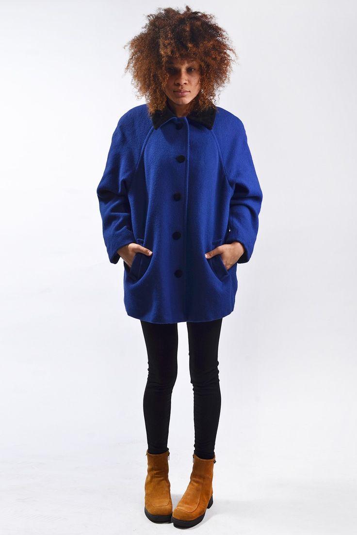 Wollen vintage jas uit 1990