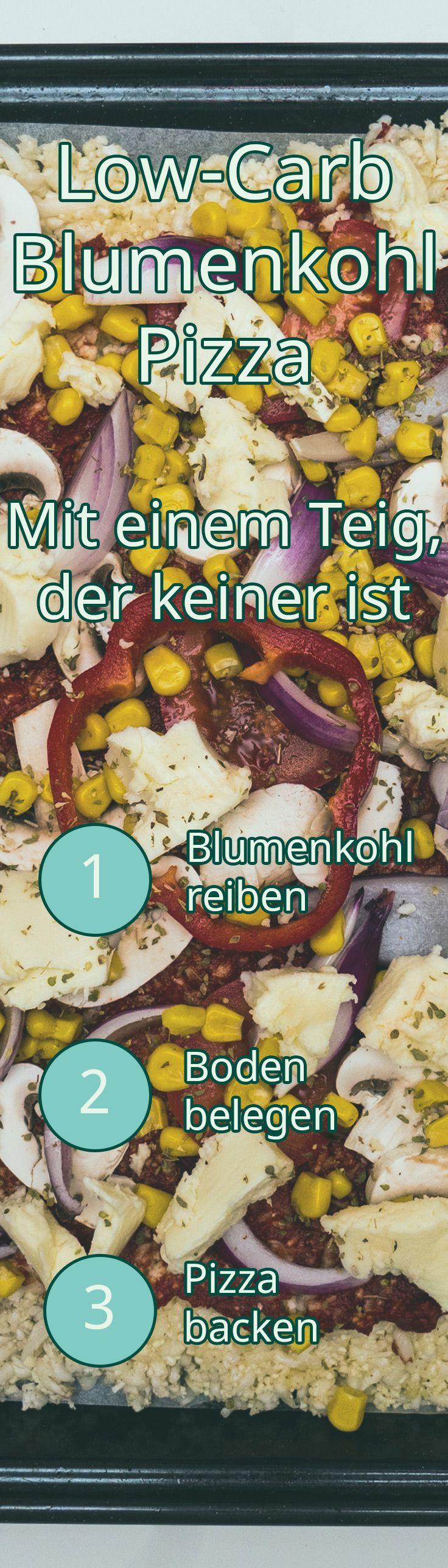 Low-Carb Blumenkohl Pizza Rezept