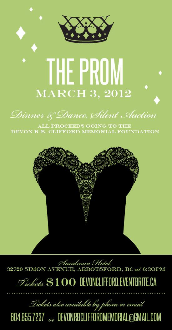 adult prom invitation fundraiser - Google Search