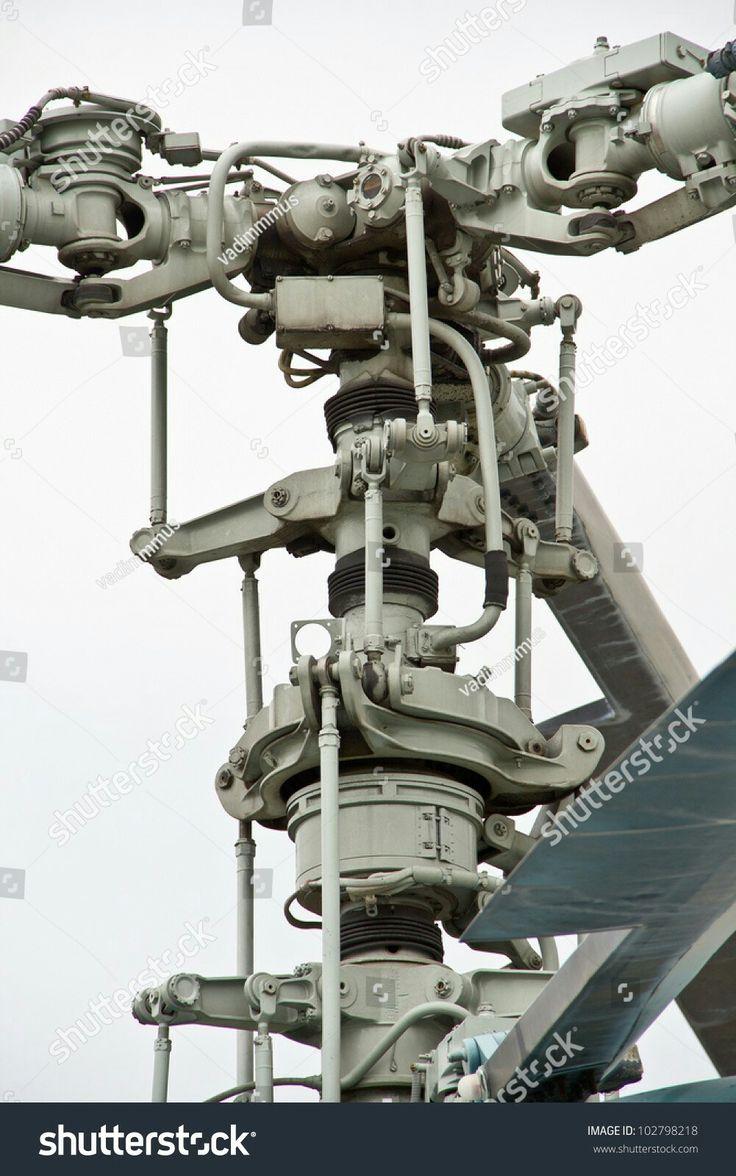 Kamov Helicopter Rotor Hub Closeup On Stock