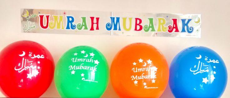 Umrah Mubarak Balloons (10 pack) | The Muslim Sticker Company