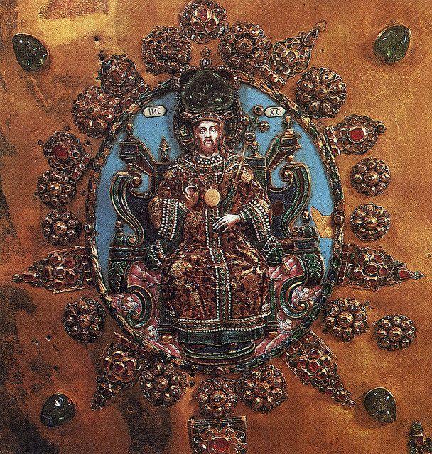 russianGold-Оклад Евангелия. Конец XVII в. Фрагмент. Мастерские Московского Кремля
