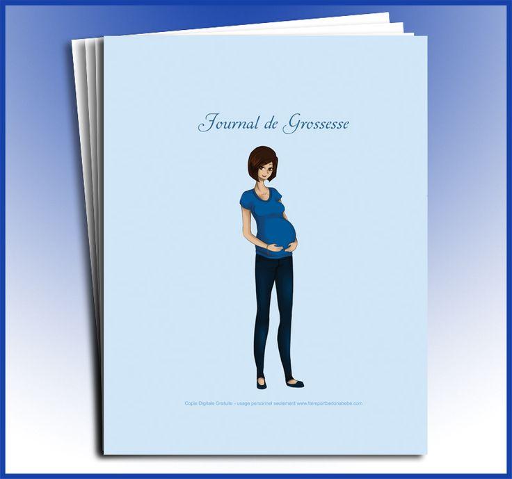 Pregnancy journal (download and print)  -  Journal de grossesse (digital vous imprimez)
