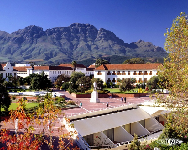 And when I study abroad, this will be my campus: Stellenbosch University