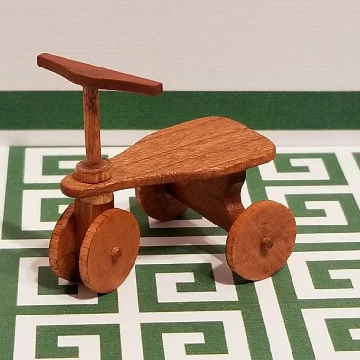 1:12 Miniature Artist Created And Signed MR 1 1/4 Inch Fully Functioning Childrens Scooter