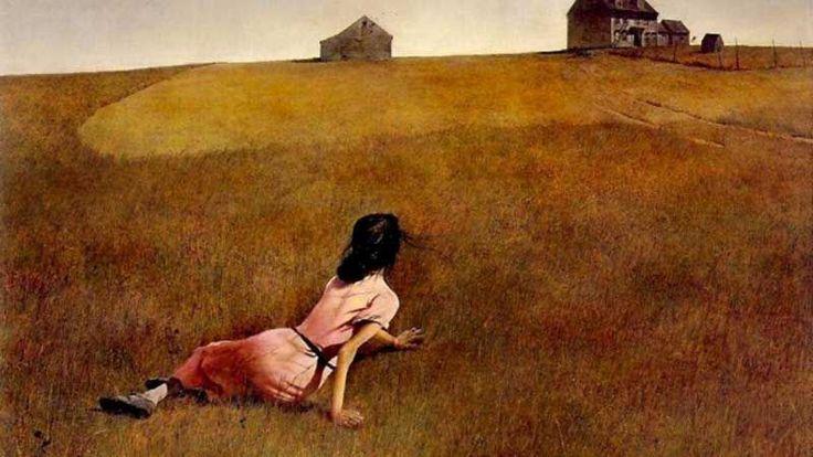 """""""Christina's World"""" é o quadro mais famoso do pintor norte-americano Andrew Wyeth,"""