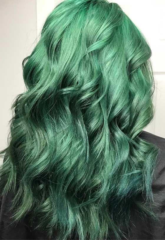 Best 25 Green Hair Colors Ideas On Pinterest Green Hair