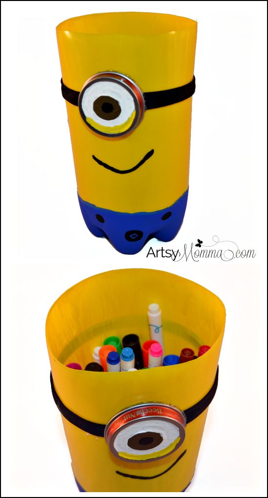 Stuart the Minion Craft made from 2-liter soda bottle