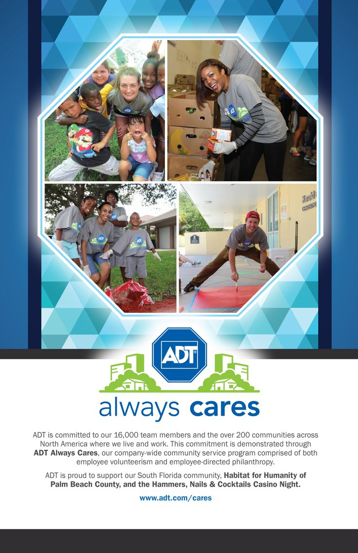 """Print Ad Design for ADT Security's """"ADT Always Cares"""