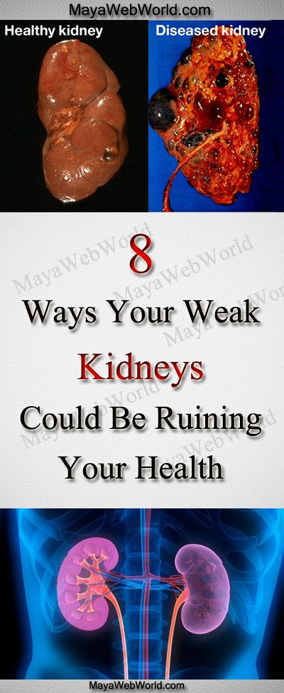 How Are Your Kidneys – The Eight Ways Your Weak Kidneys Could Be Ruining Your Health