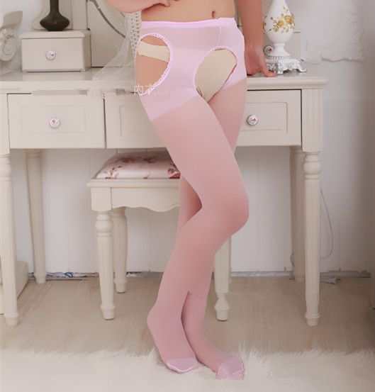 Lady Vrouwen Donker Roze Sexy Panty Mesh Visnet Panty Open Kruis Kousen Zomer Panty Sexy Lingerie Bodystockings BA052(China (Mainland))