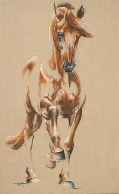 Piaffer - Laetitia PLINGUET Oil on canvas www.articia.fr