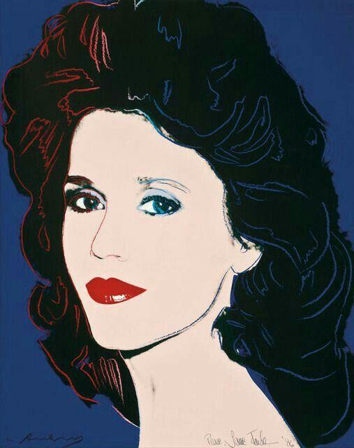 Andy Warhol ( Artist ), Jane Fonda , 1982