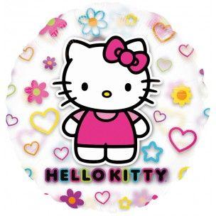 Ballon hélium transparent Hello Kitty