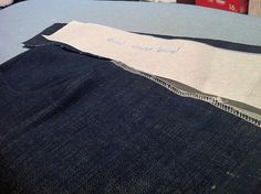 Inserting a stretch waistband into jeans pattern, eliminate fly front